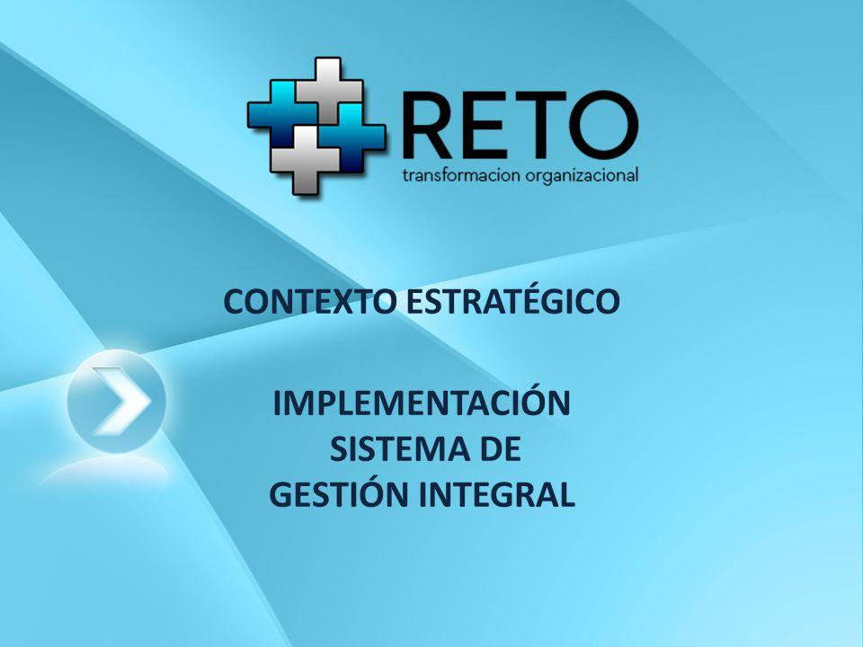 CONTEXTO ESTRATÉGICO IMPLEMENTACIÓN SISTEMA DE GESTIÓN INTEGRAL