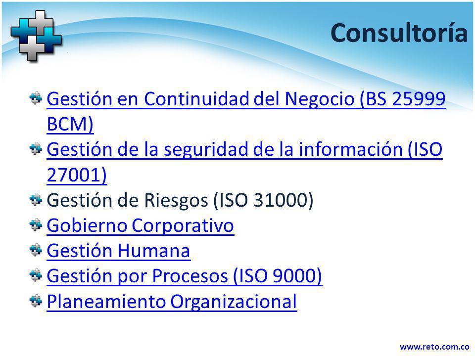 Consultoría Gestión en Continuidad del Negocio (BS 25999 BCM)