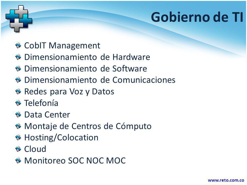 Gobierno de TI CobIT Management Dimensionamiento de Hardware