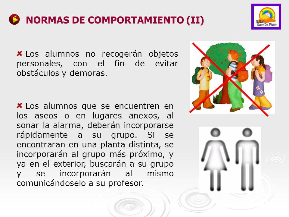 NORMAS DE COMPORTAMIENTO (II)