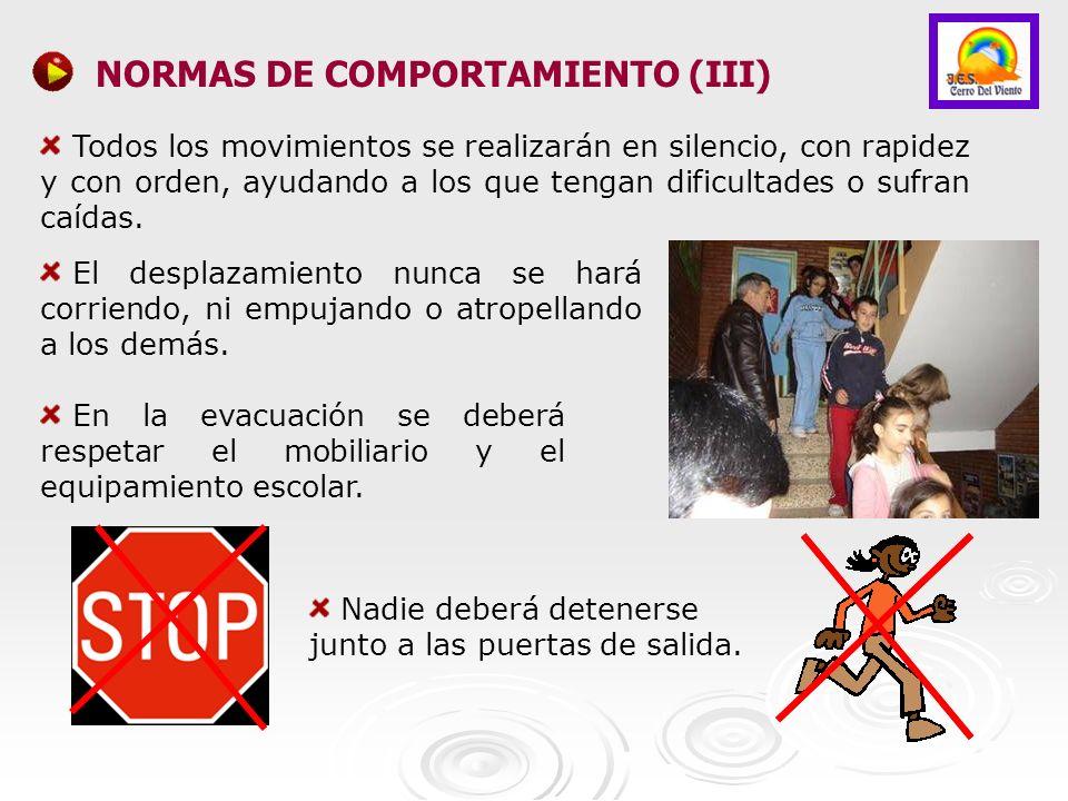 NORMAS DE COMPORTAMIENTO (III)