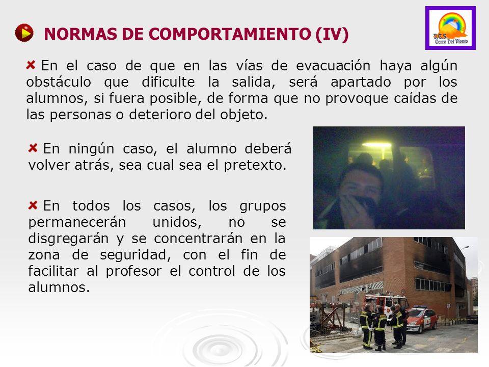 NORMAS DE COMPORTAMIENTO (IV)