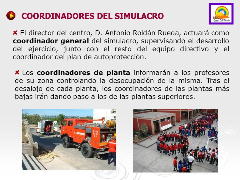 COORDINADORES DEL SIMULACRO COORDINADORES DEL SIMULACRO