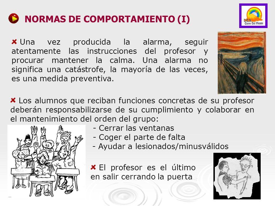 NORMAS DE COMPORTAMIENTO (I)