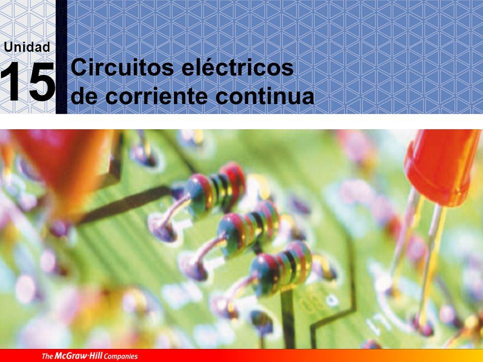15.1. El circuito eléctrico A Concepto de energía eléctrica