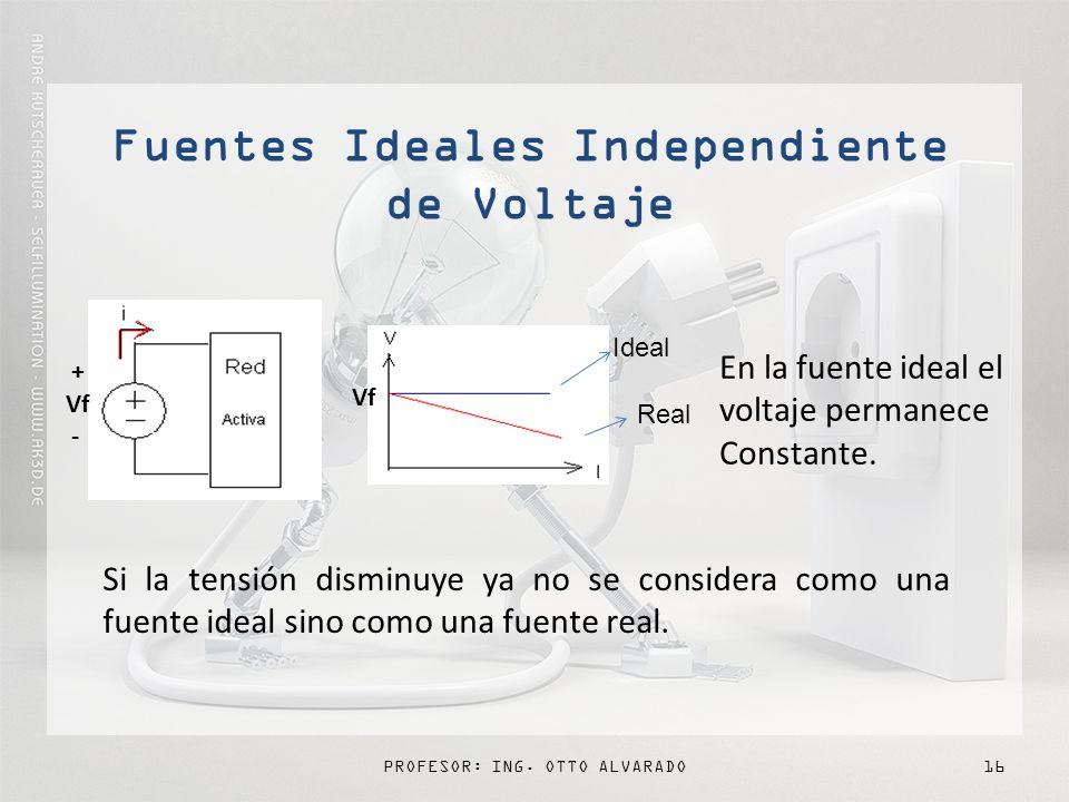 Fuentes Ideales Independiente de Voltaje
