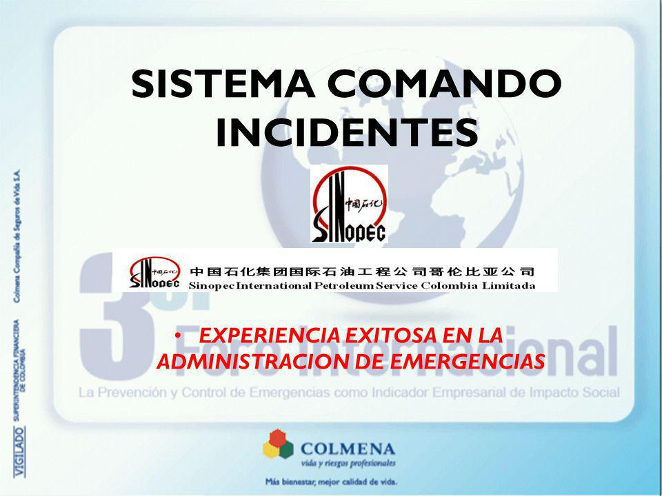 SISTEMA COMANDO INCIDENTES