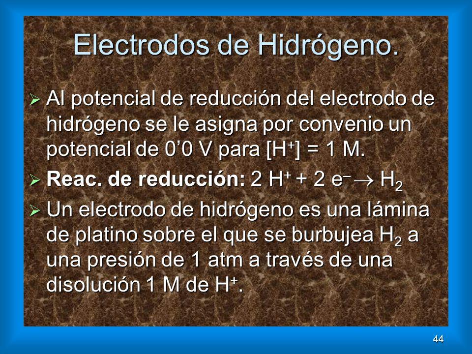 Electrodos de Hidrógeno.