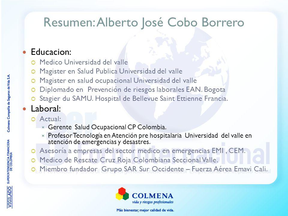 Resumen: Alberto José Cobo Borrero