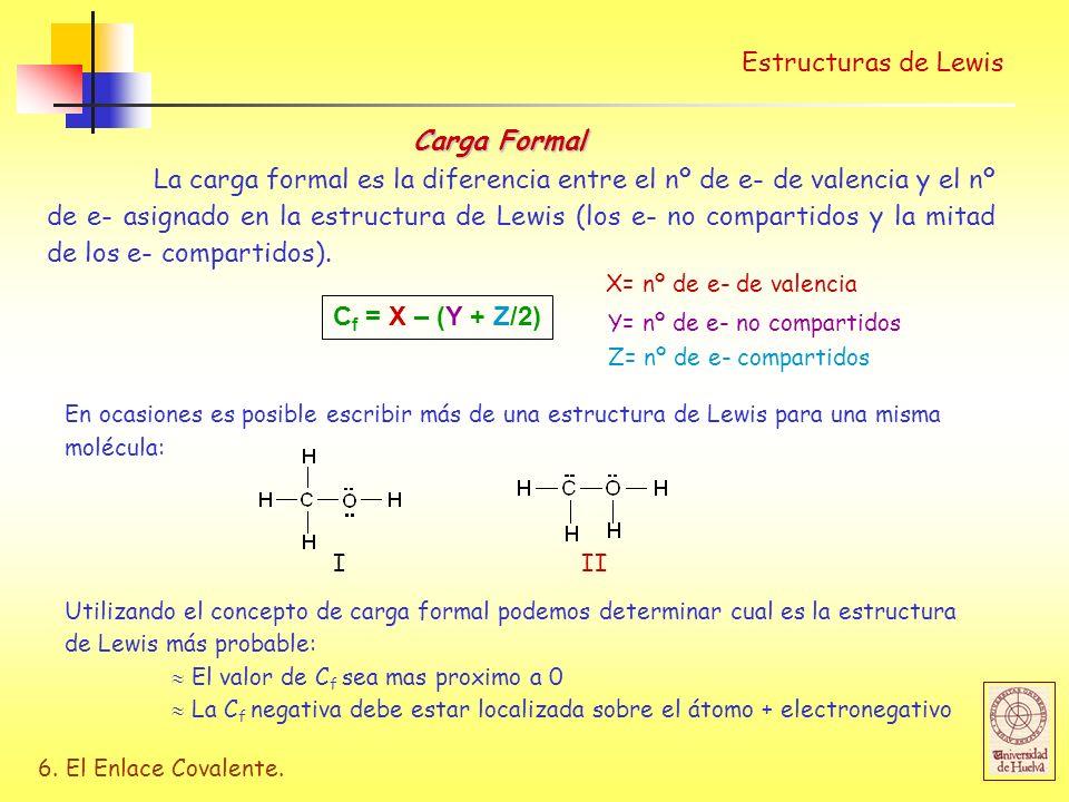 Estructuras de Lewis Carga Formal