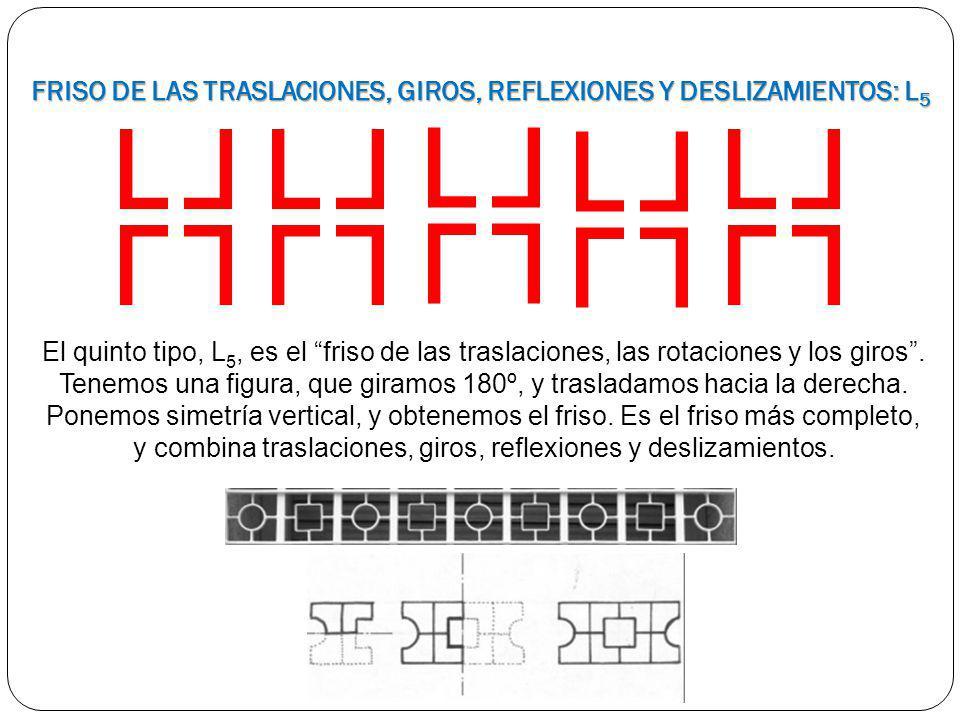 FRISO DE LAS TRASLACIONES, GIROS, REFLEXIONES Y DESLIZAMIENTOS: L5