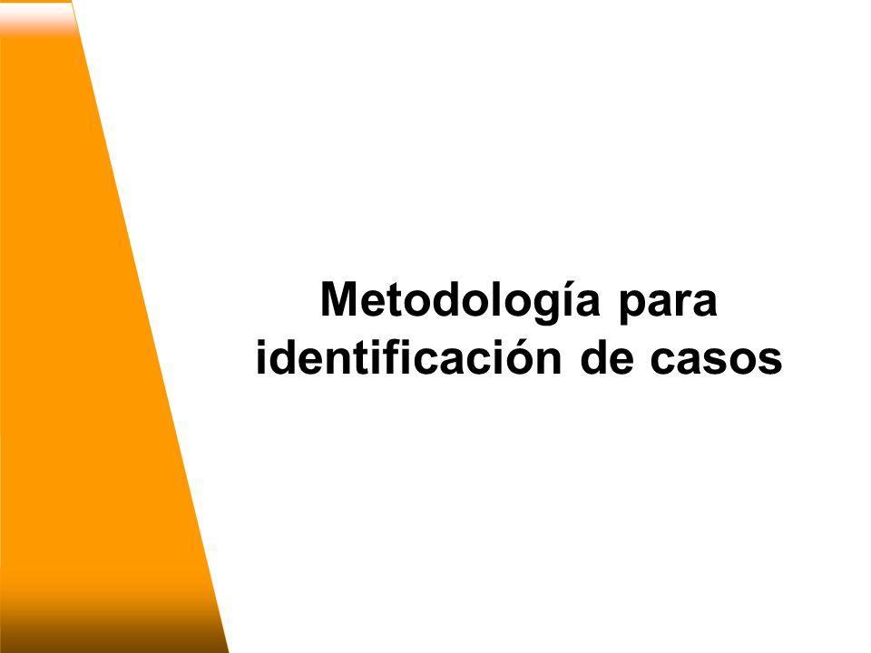 Metodología para identificación de casos