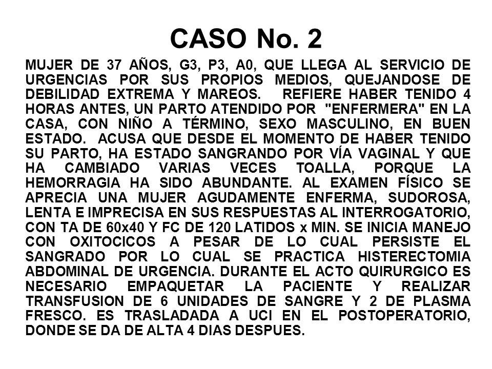 CASO No. 2