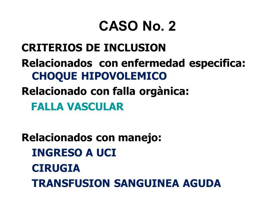 CASO No. 2 CRITERIOS DE INCLUSION
