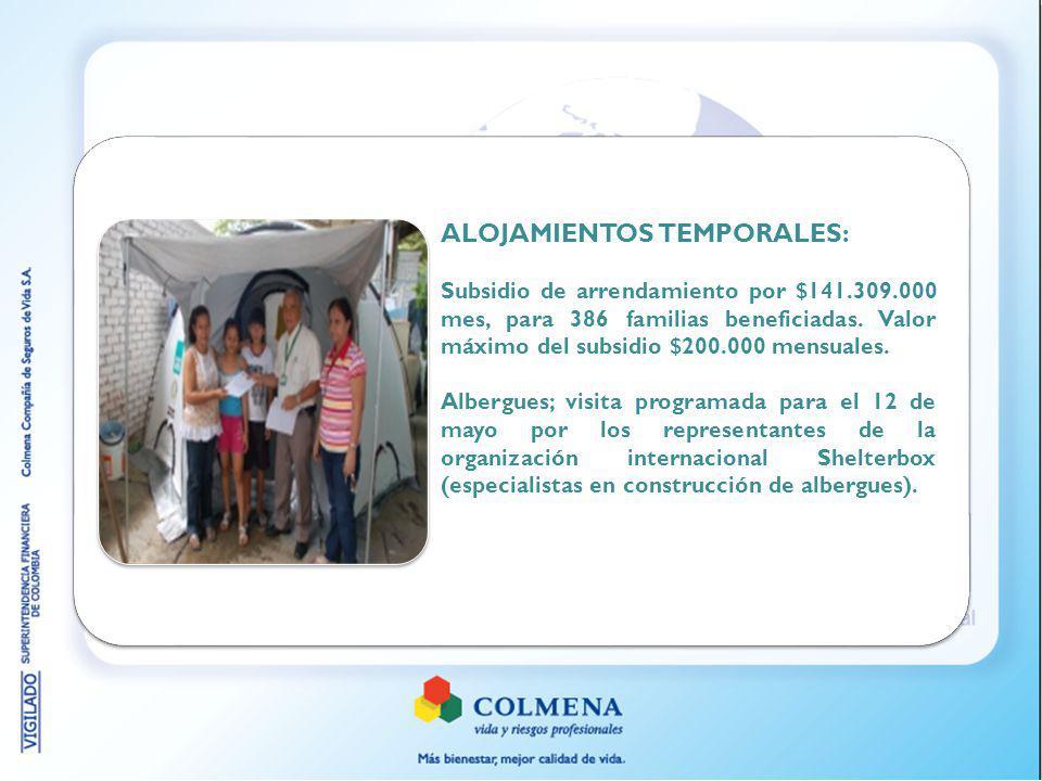 ALOJAMIENTOS TEMPORALES: