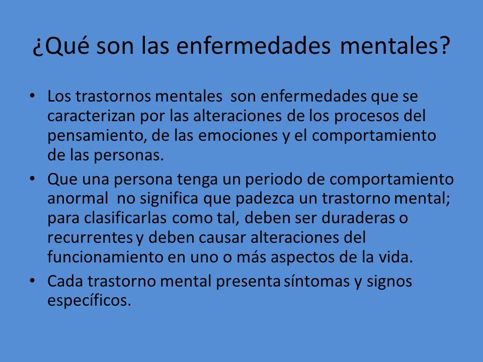 ¿Qué son las enfermedades mentales