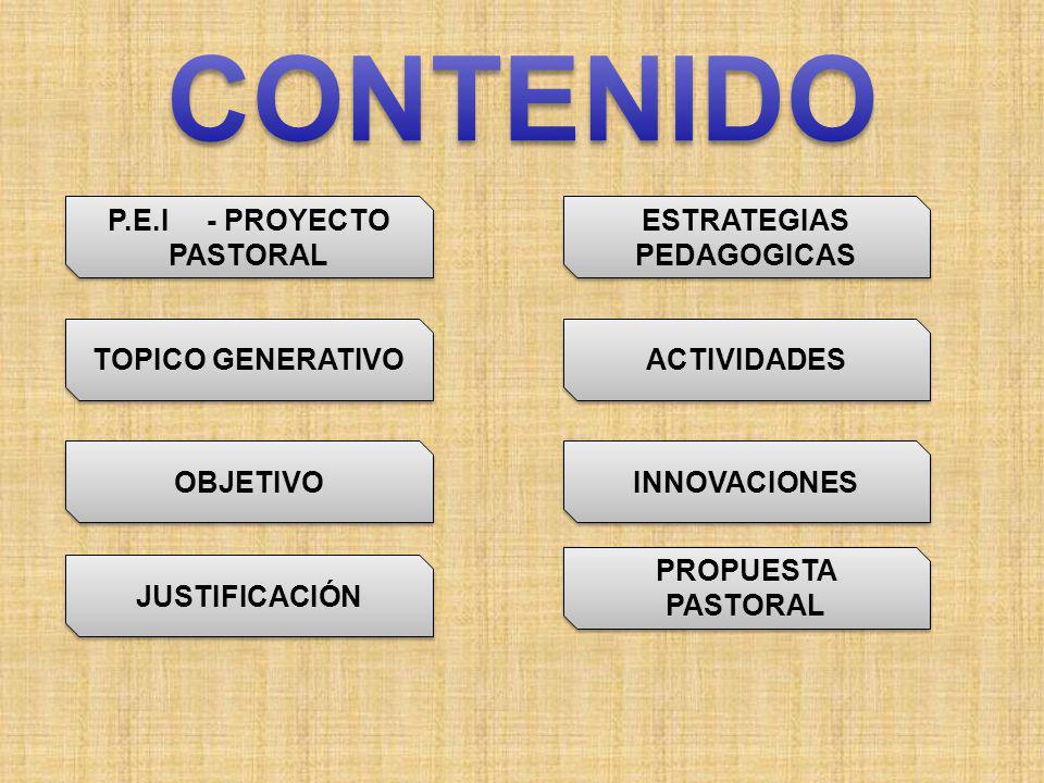 P.E.I - PROYECTO PASTORAL ESTRATEGIAS PEDAGOGICAS