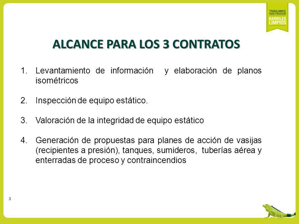 ALCANCE PARA LOS 3 CONTRATOS
