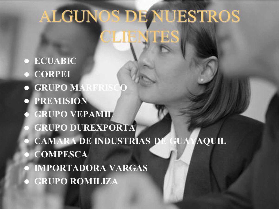 ALGUNOS DE NUESTROS CLIENTES