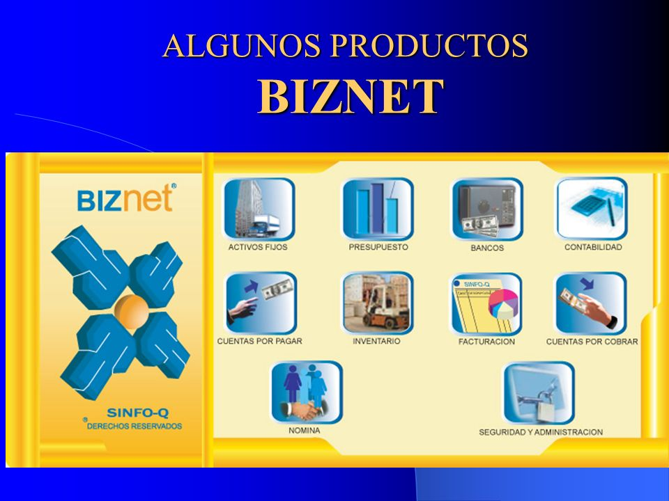 ALGUNOS PRODUCTOS BIZNET