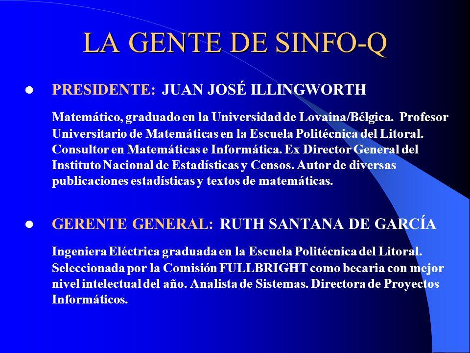 LA GENTE DE SINFO-Q PRESIDENTE: JUAN JOSÉ ILLINGWORTH.
