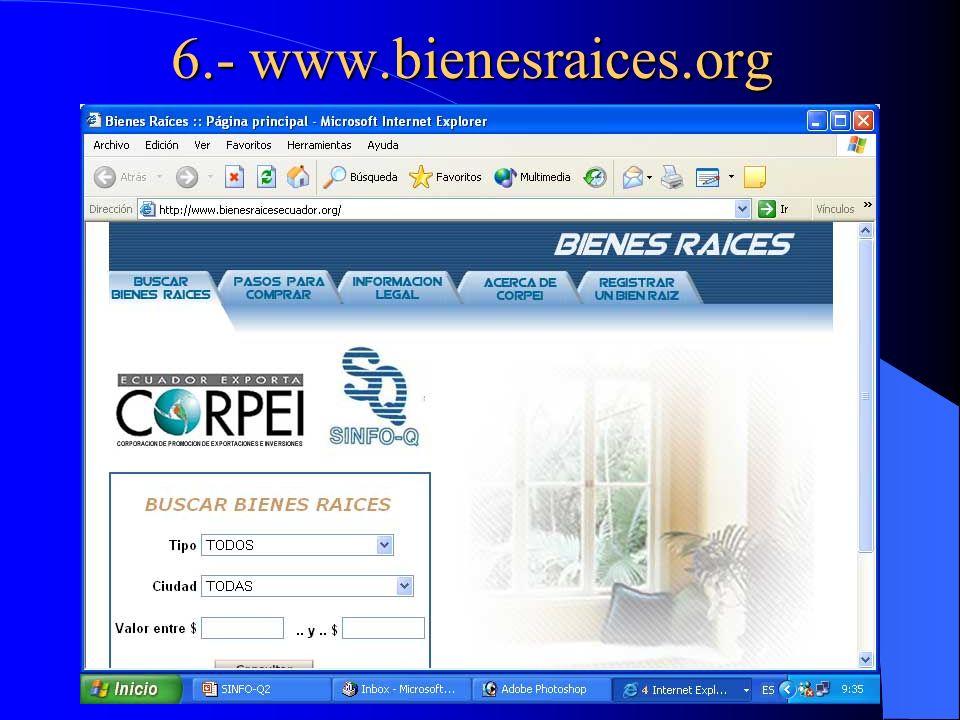 6.- www.bienesraices.org