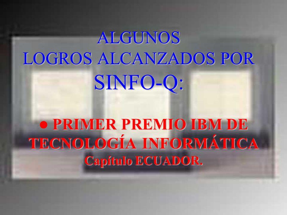 ALGUNOS LOGROS ALCANZADOS POR SINFO-Q: