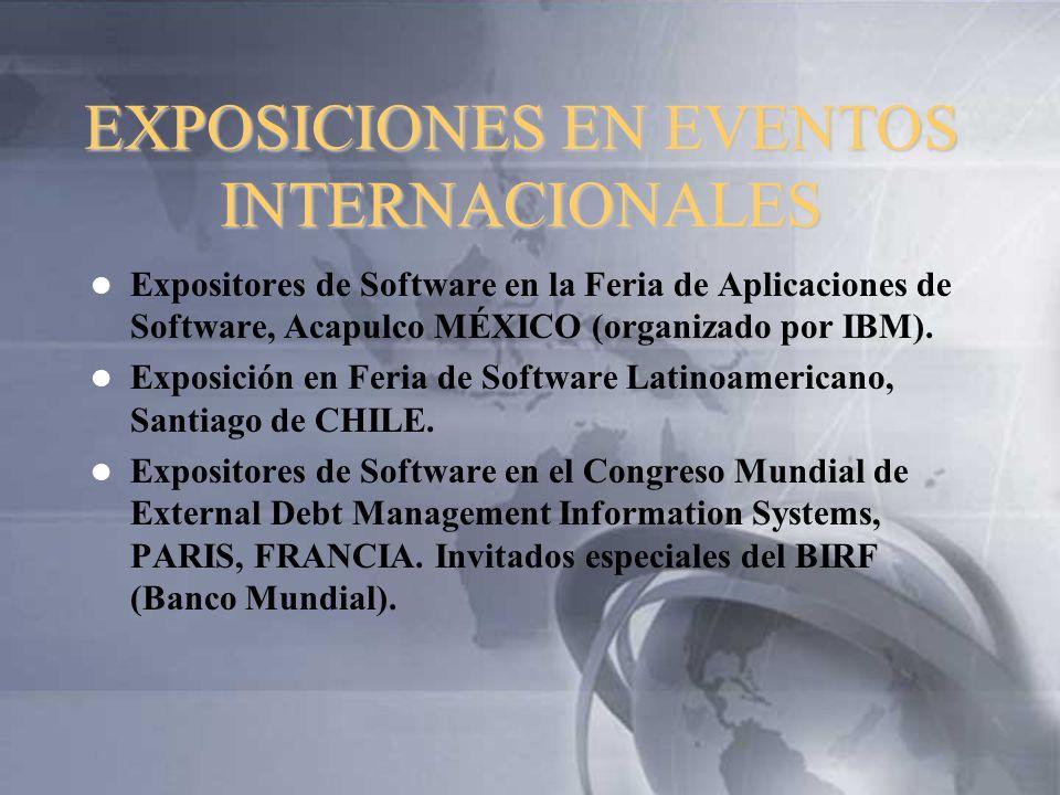 EXPOSICIONES EN EVENTOS INTERNACIONALES