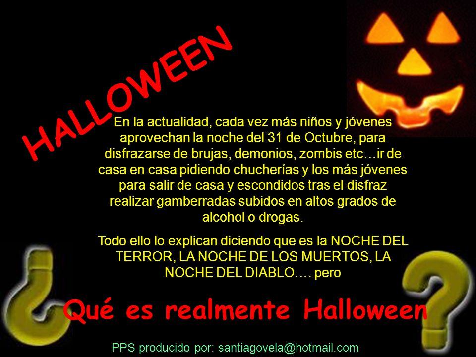 HALLOWEEN Qué es realmente Halloween