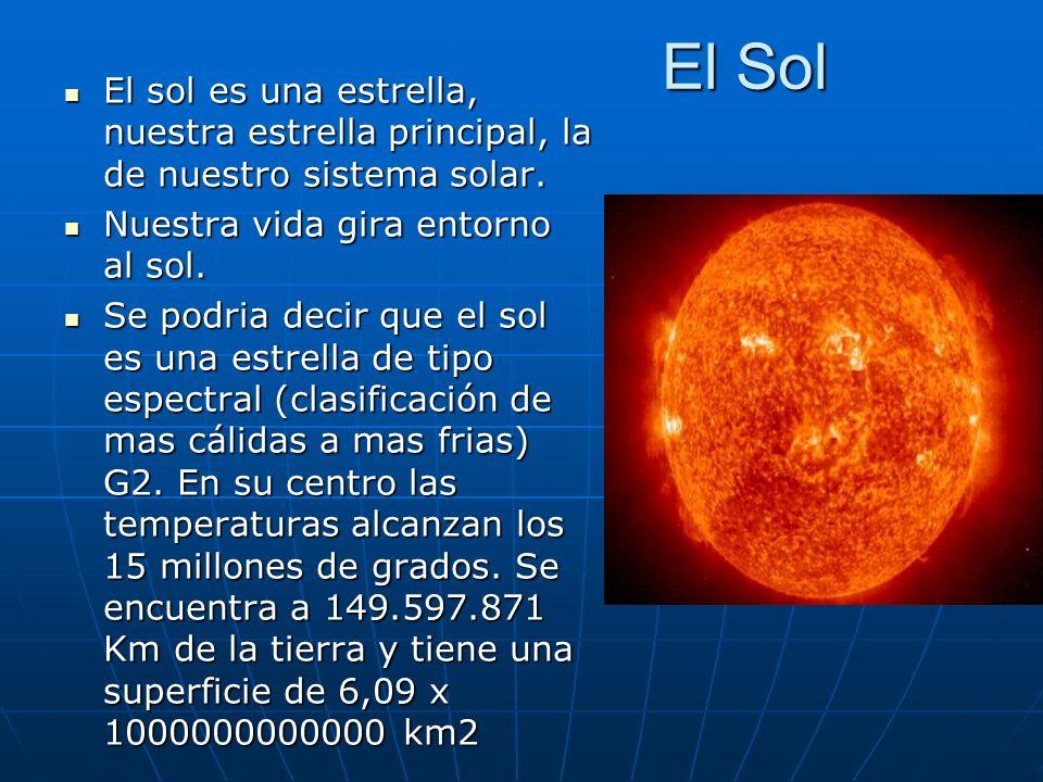El Sol El sol es una estrella, nuestra estrella principal, la de nuestro sistema solar. Nuestra vida gira entorno al sol.