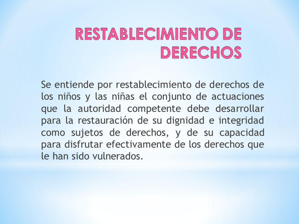 RESTABLECIMIENTO DE DERECHOS