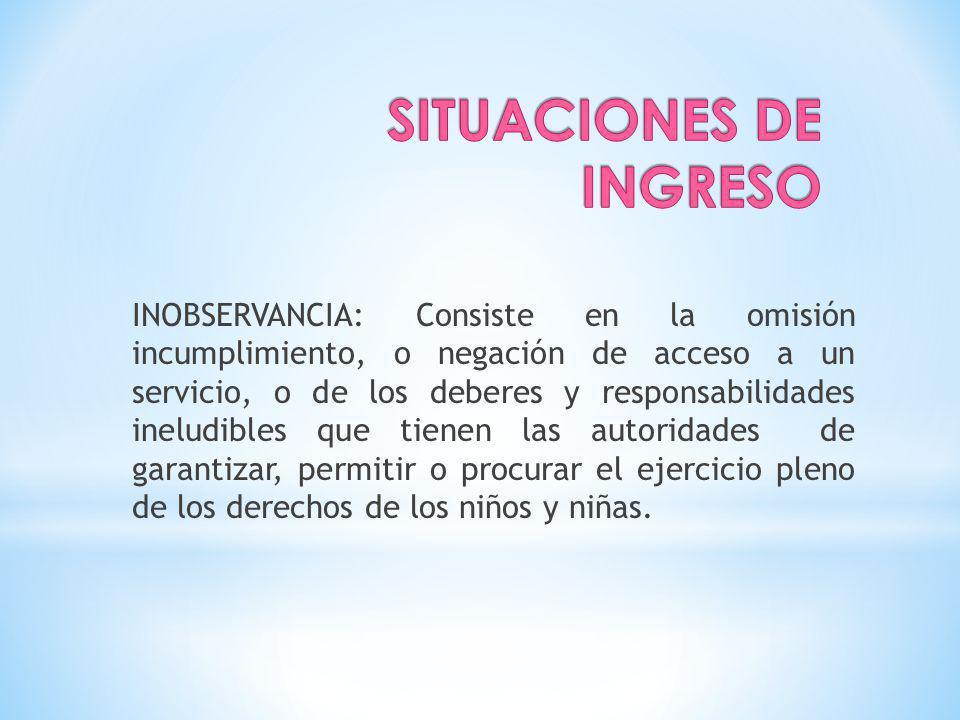 SITUACIONES DE INGRESO