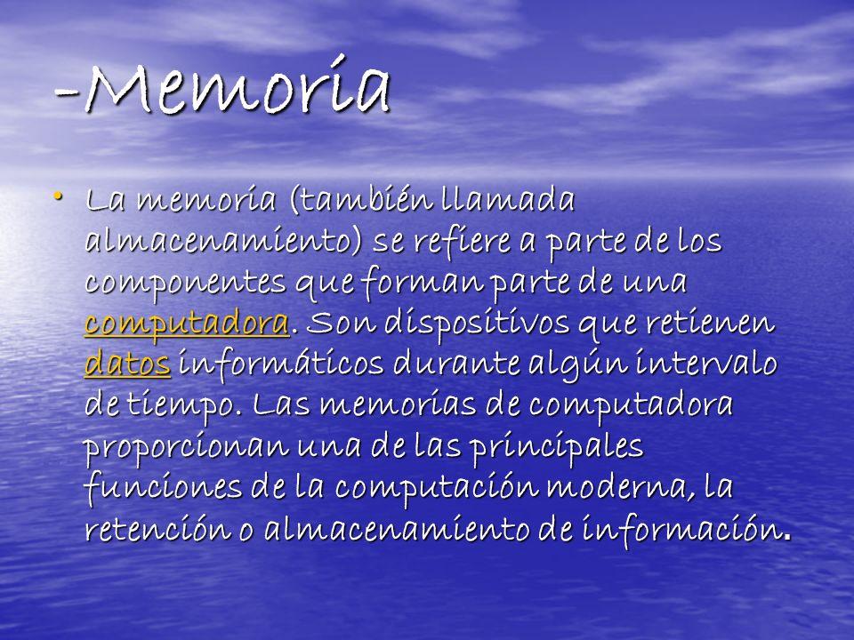 -Memoria