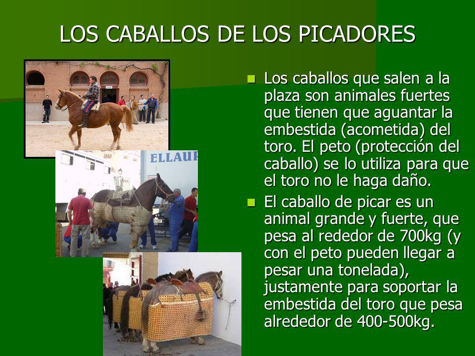 LOS CABALLOS DE LOS PICADORES