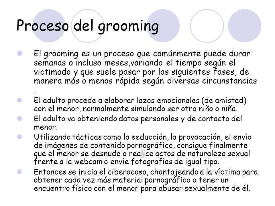 Proceso del grooming