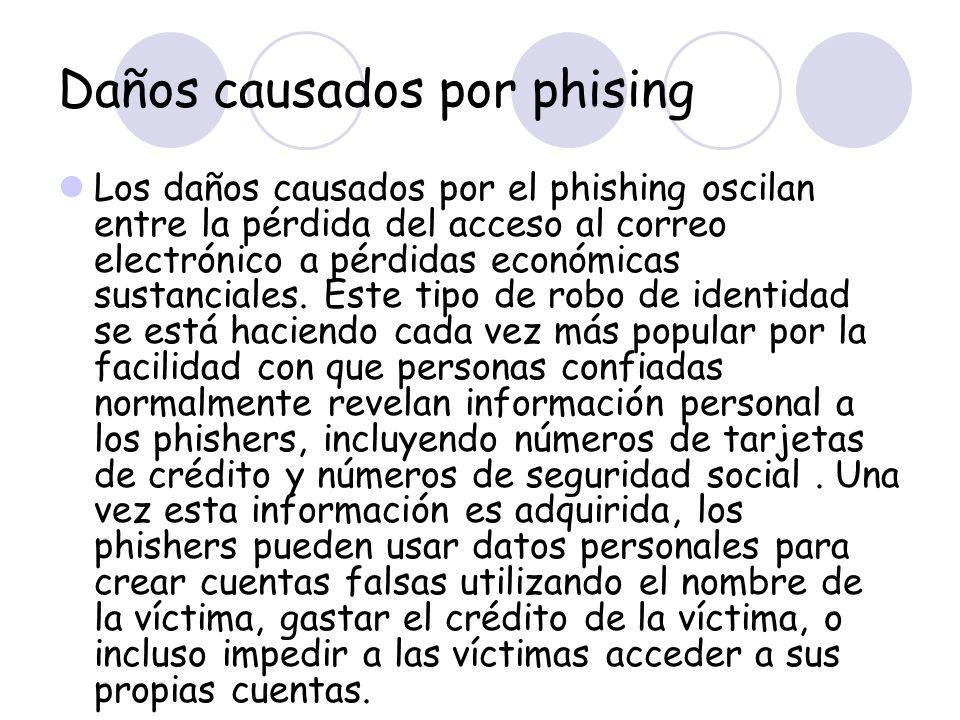 Daños causados por phising