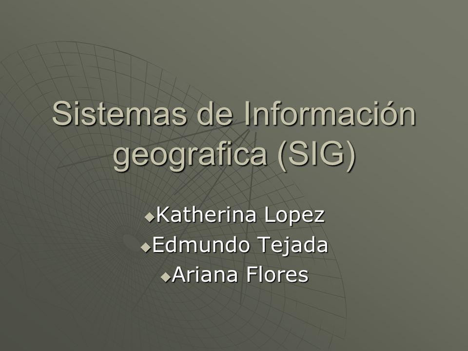 Sistemas de Información geografica (SIG)