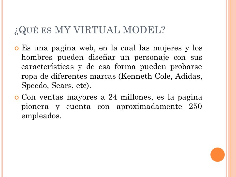 ¿Qué es MY VIRTUAL MODEL