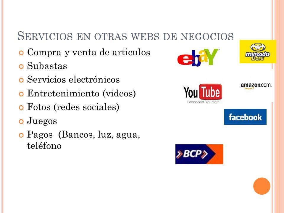 Servicios en otras webs de negocios