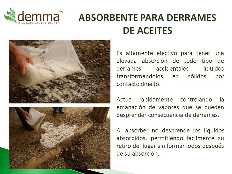 ABSORBENTE PARA DERRAMES DE ACEITES