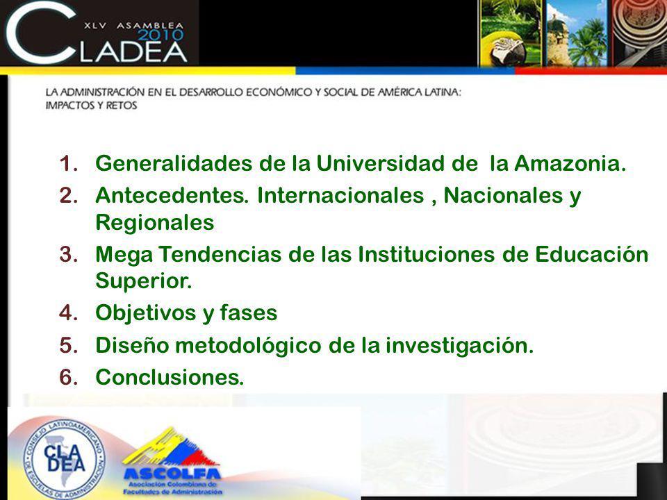 CONTENIDO Generalidades de la Universidad de la Amazonia.
