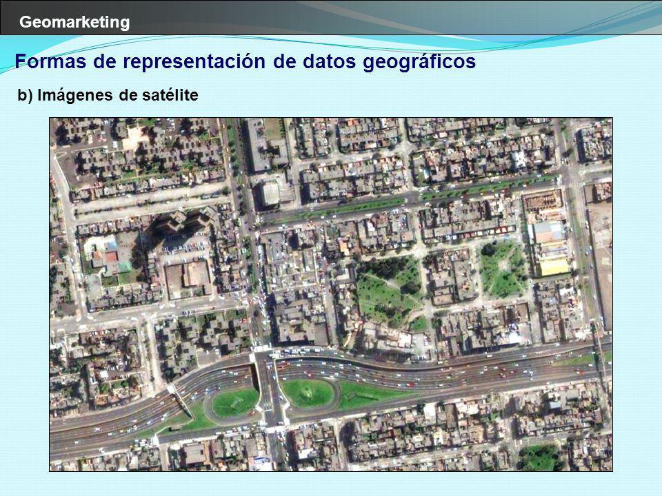 Formas de representación de datos geográficos