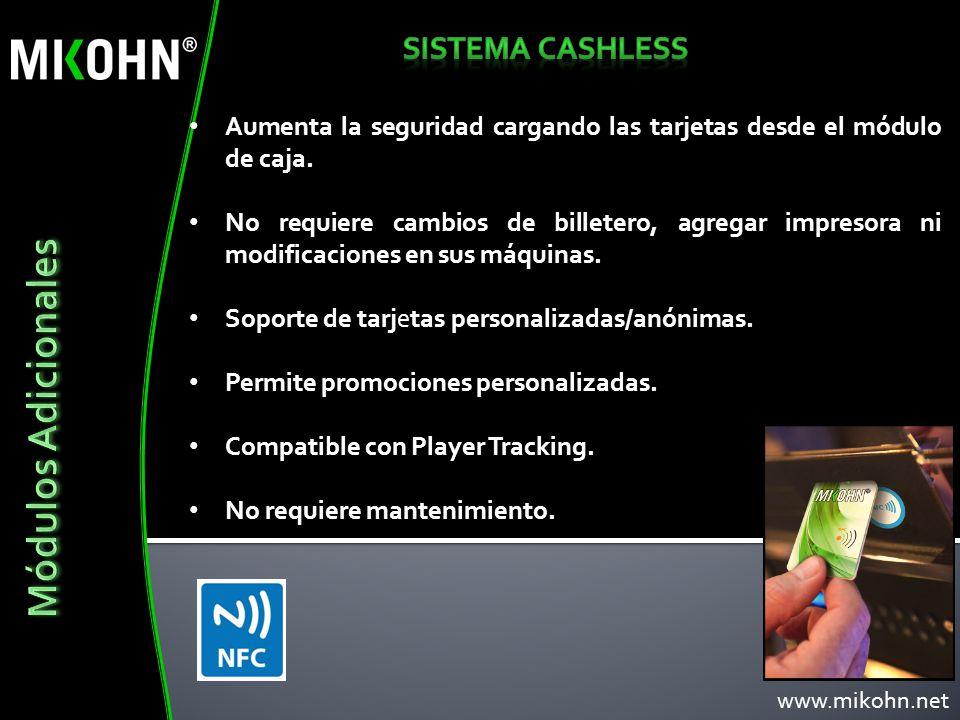 Módulos Adicionales Sistema cashless