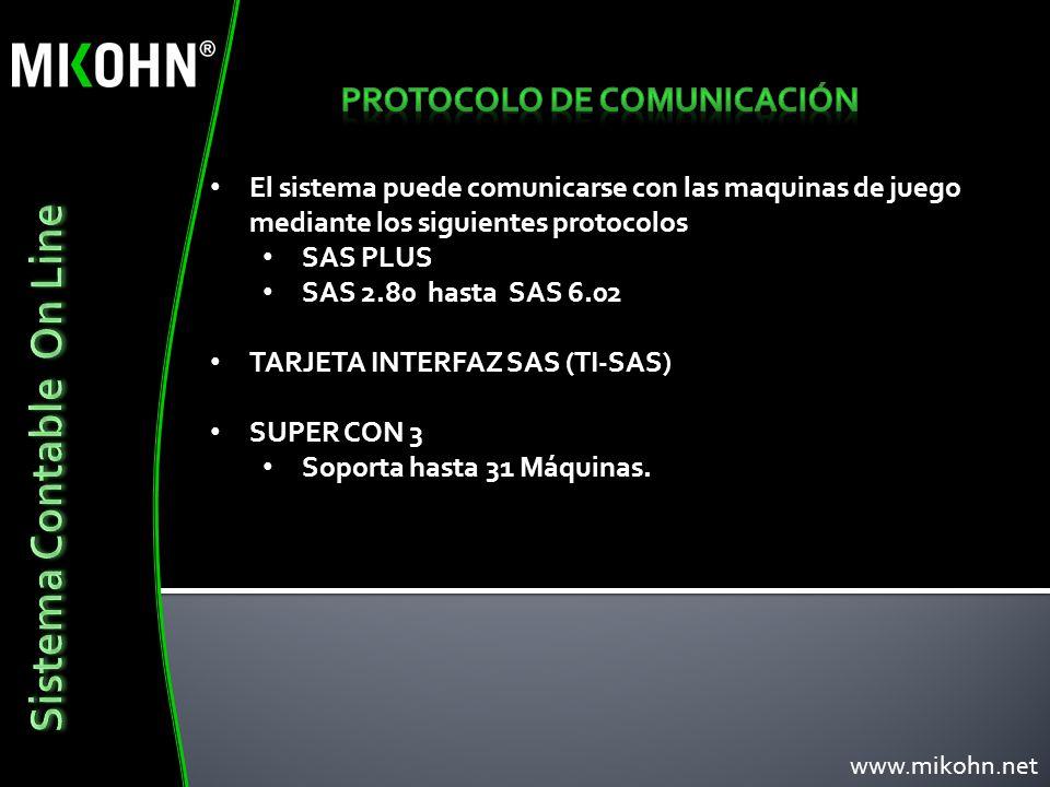 PROTOCOLO DE COMUNICACIÓN Sistema Contable On Line
