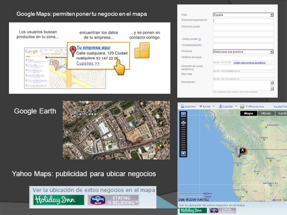 Yahoo Maps: publicidad para ubicar negocios