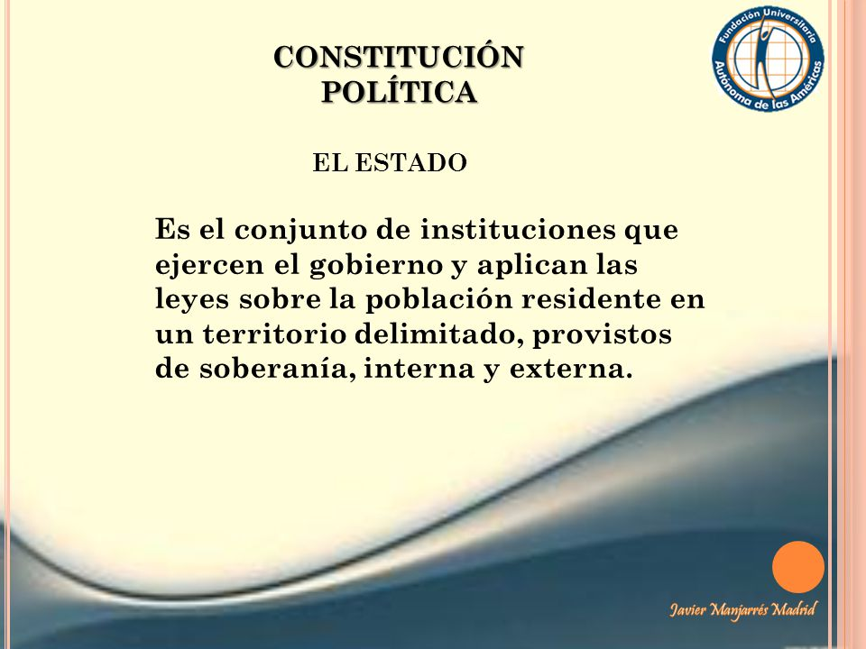 CONSTITUCIÓN POLÍTICA