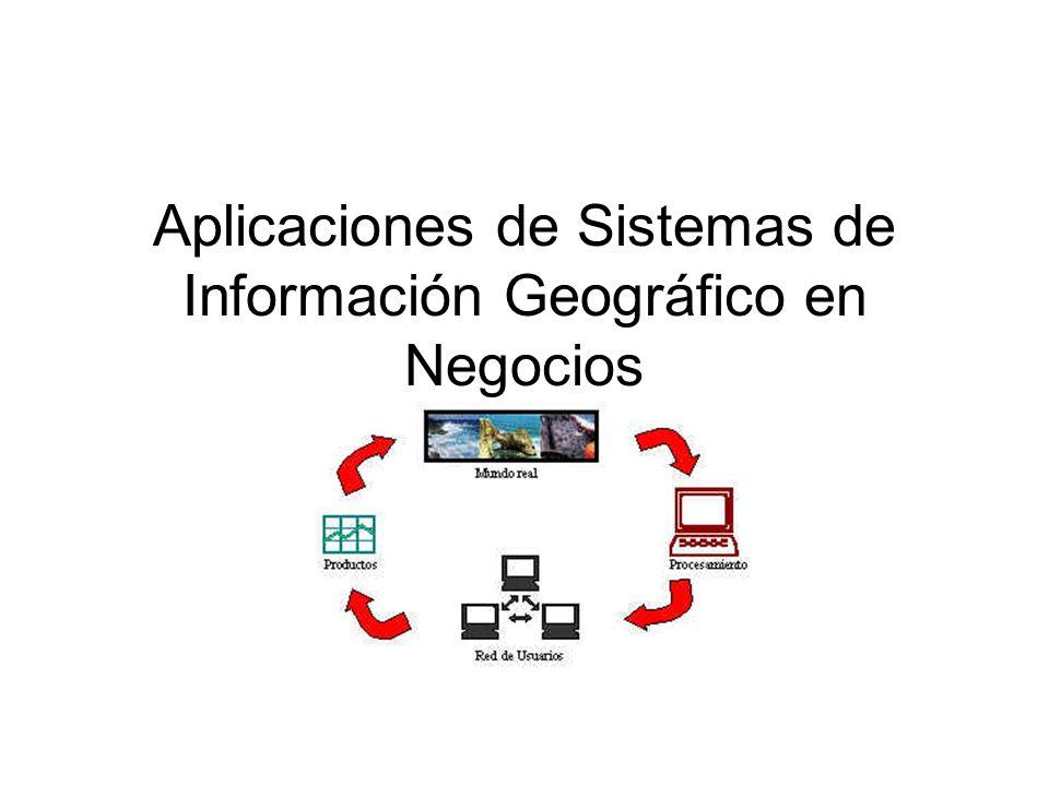 Aplicaciones de Sistemas de Información Geográfico en Negocios