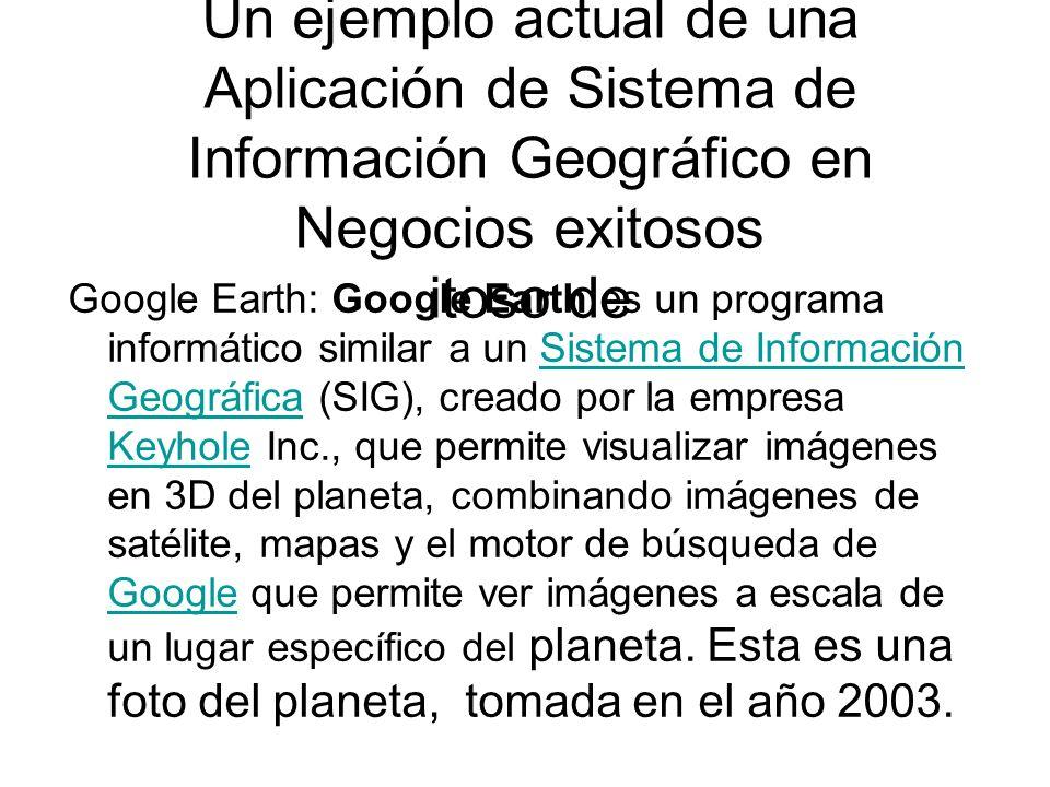 Un ejemplo actual de una Aplicación de Sistema de Información Geográfico en Negocios exitosos itoso de