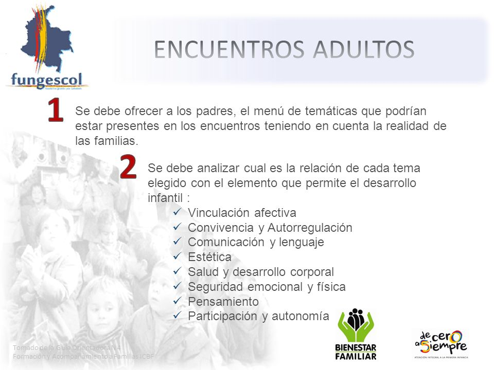 ENCUENTROS ADULTOS 1.