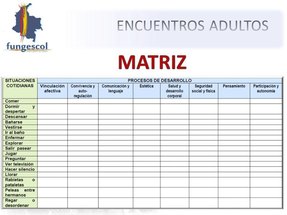 ENCUENTROS ADULTOS MATRIZ